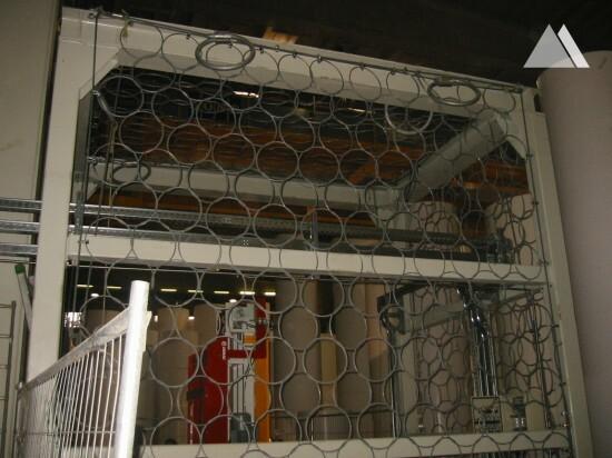Protezione nuovo ingresso autostore con reti  in acciaio 2007 - Geobrugg