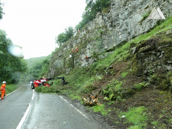 Estabilización de taludes - Via Gellia, Derbyshire 2017