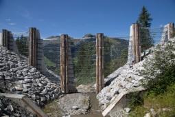 Hangmuren- und Murgangschutz - Innere Sitebach, Lenk, Berner Oberland 2017