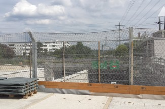 Road fencing - Stelzentunnel Construction Site Protection 2016