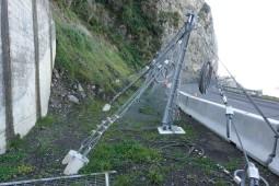 Moloz akışına ve heyelana karşı koruma - Kaikoura State Highway 1 (SR11 26) 2017