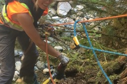 Moloz akışına ve heyelana karşı koruma - Britannia Creek 2018