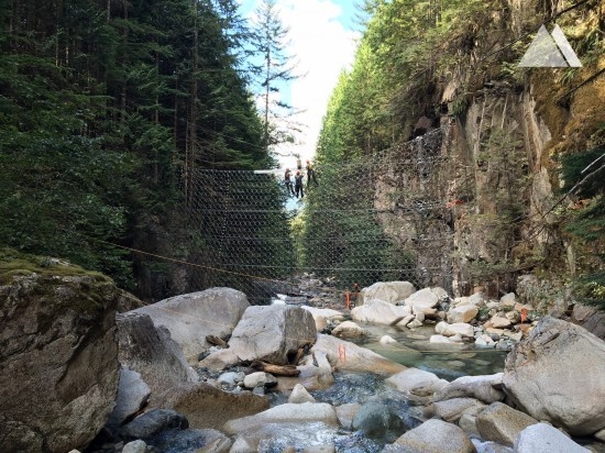 Ochrona przed spływami gruzowymi (rumowisko) i płytkimi  osuwiskami - Britannia Creek 2018