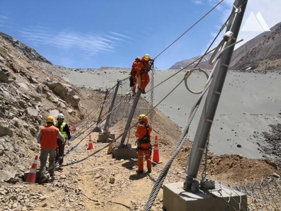 Moloz akışına ve heyelana karşı koruma - San Francisco Tunnel Los Bronces Access Protection 2018