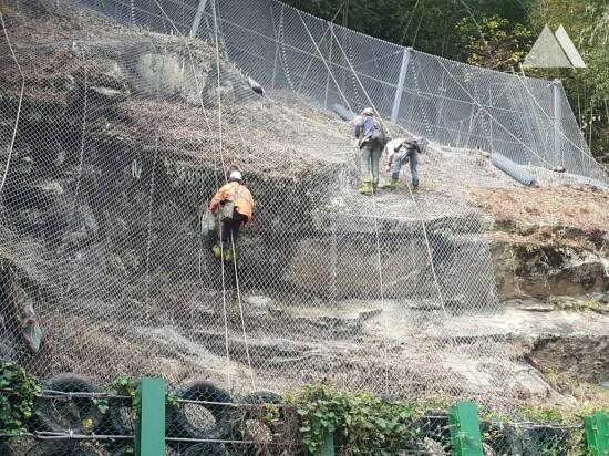 Kaya düşmesine karşı koruma - Alishan, Chiayi County 2018