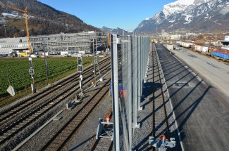 Landquart: Protection system for timber loading station 2018 - Geobrugg