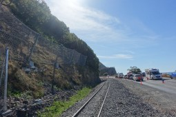 Kaikoura State Highway (SR27)   Coastal Pacific Rail (NS15) 2019 - Geobrugg