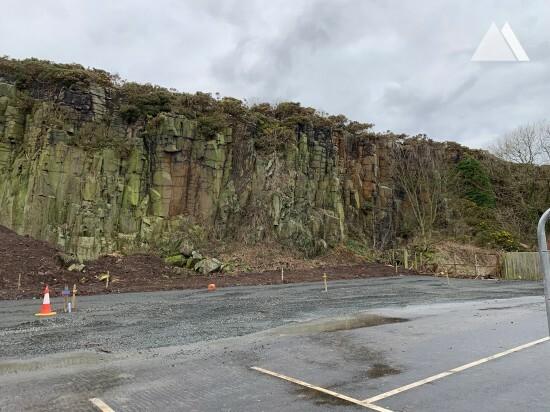 Steinschlagschutz - Craster Quarry Car Park 2019