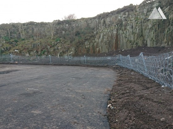 Rockfall Protection - Craster Quarry Car Park 2019