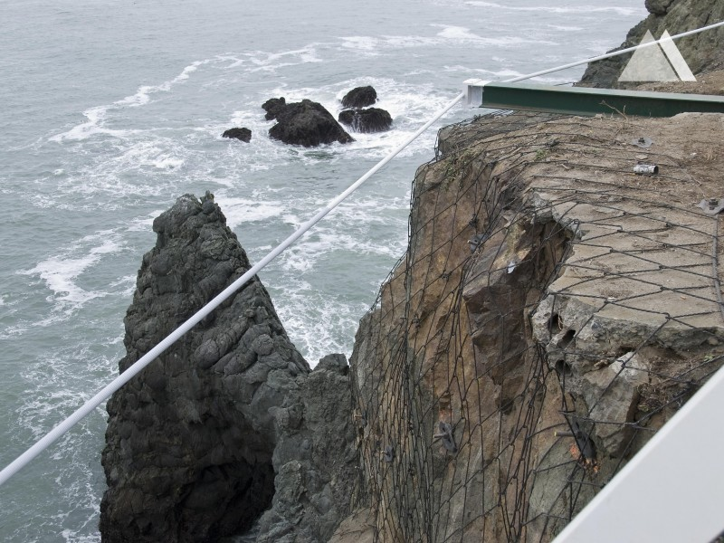 Point Bonita Lighthouse Pedestrian Bridge 2012 - Geobrugg