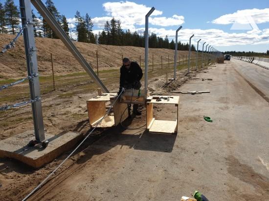 Skellefteå Drive Center 2019 - Debris Fence 6m 2019 - Geobrugg