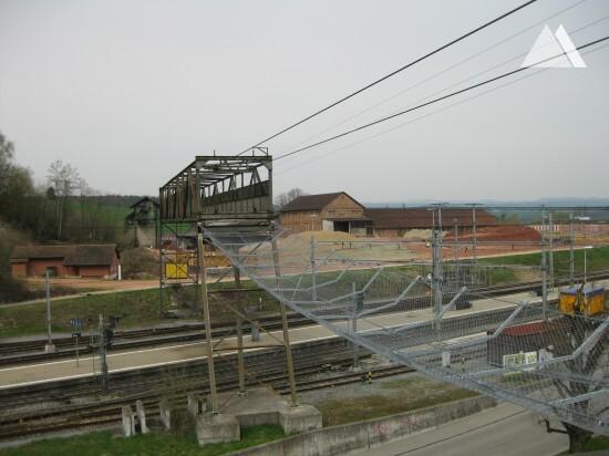 Tonwerke Keller AG aerial cableway safety net 2009 - Geobrugg