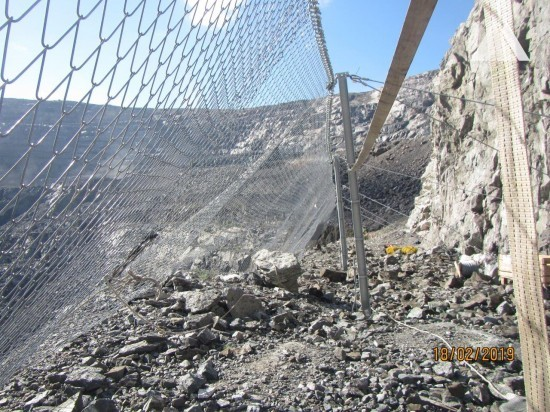 Steinschlagschutz - South African Open Pit Mine 2018