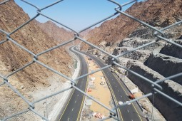 Moloz akışına ve heyelana karşı koruma - Shis - Khor Fakkan road 2019