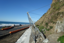 Proteção contra desprendimentos - Kaikoura State Highway 1 (SR1-2) 2019