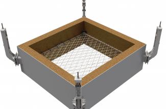 Zabezpieczenie szybu kontrolnego w cementowni w Deuna 2015 - Geobrugg