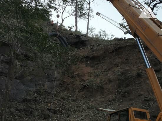 Stabilizacja skarp - Malshej Ghat, NH222 (1) 2019