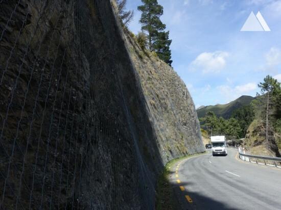 Protection contre les chutes de pierres - Hanmer Drape 2017