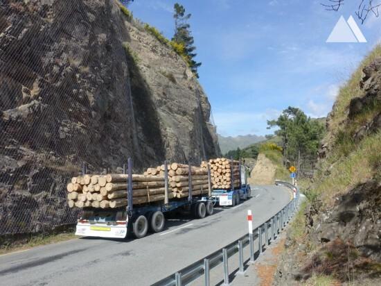 Protección contra caídas de rocas - Hanmer Drape 2017