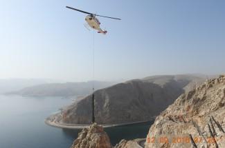 Protección contra caídas de rocas - Khasab coast road 2019