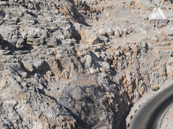Protezione da caduta massi - Khasab coast road 2019