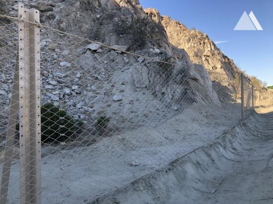 Ochrona przed obrywami skalnymi - La Quinta, California 2019