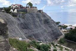 Şev ve Yamaç koruma - Fort Oranje, St. Eustatius 2020