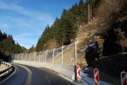 Protección contra flujos de detritos y deslizamientos superficiales - Katschbergstrasse B99 (1) 2019