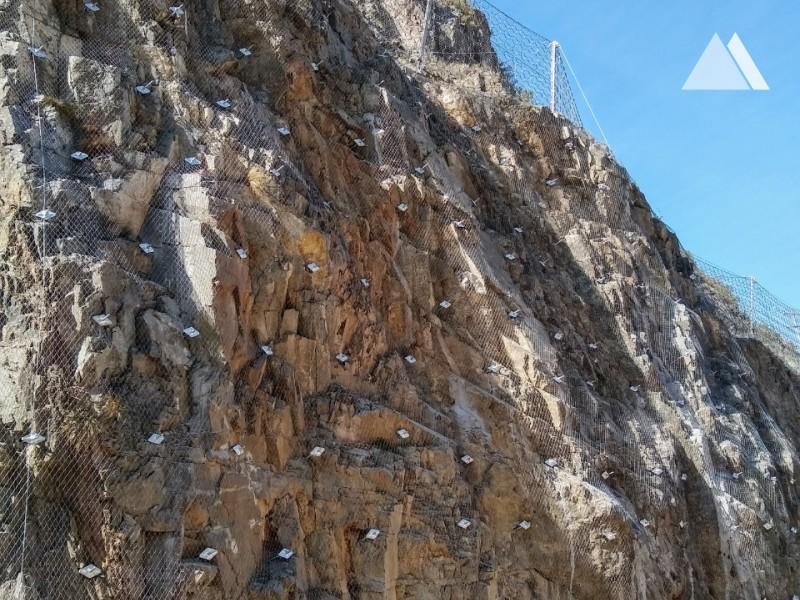 Kaya düşmesine karşı koruma - Cacheuta Tunnel - Mendoza - Road N°82 2020