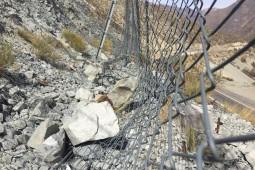 Protecţia împotriva căderilor de pietre - Los Azules, Ruta internacional 60 CH 2019