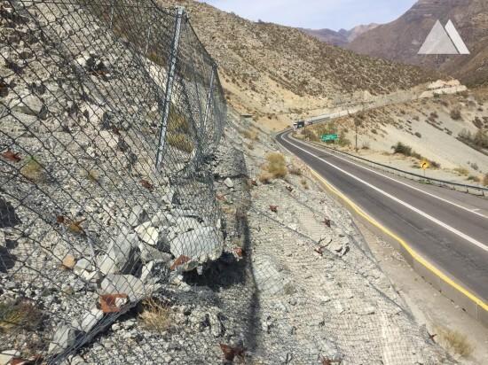 Rockfall Protection - Los Azules, Ruta internacional 60 CH 2019