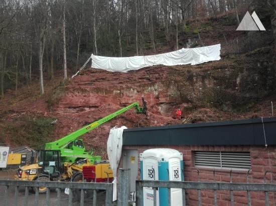 Укрепление склонов - Western Portal of Hirschhorn Tunnel 2020
