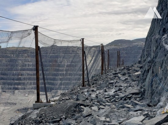 Kaya düşmesine karşı koruma - Canadian Malartic Mine CMM 2019