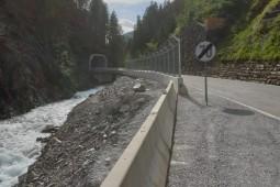 道路护栏 - Defereggental L25 - temporary rockfall protection 2020
