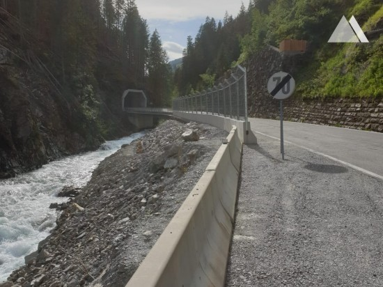 Delimitarea drumurilor - Defereggental L25 - temporary rockfall protection 2020